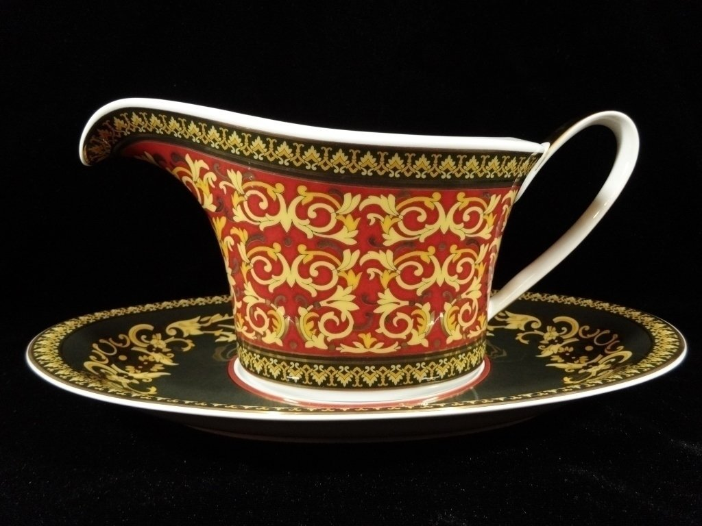 ROSENTHAL CHINA VERSACE MEDUSA GRAVY WITH SEPARATE