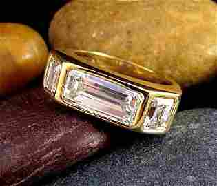 TIFFANY Paloma Picasso  diamond ring 3.02ct center 18k