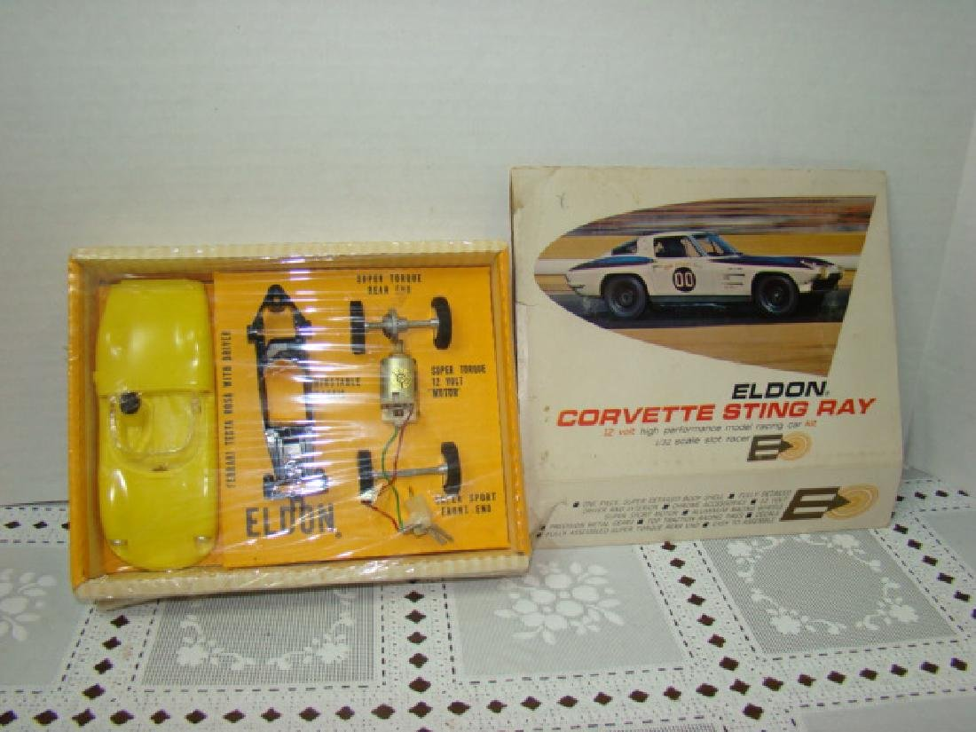 YELLOW ELDON SLOT CAR - CORVETTE STING RAY - NIB