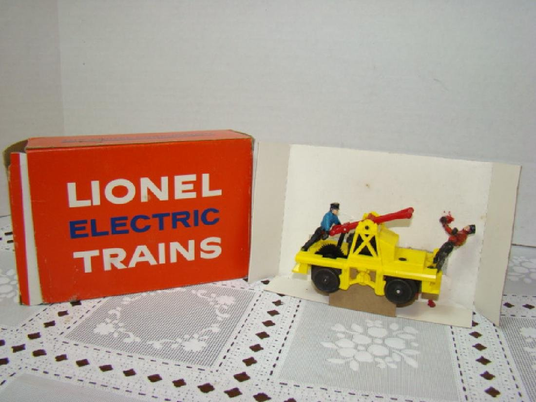 O SCALE  MOTORIZED HAND CAR  BY LIONEL - IN BOX