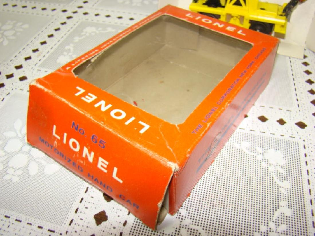 O SCALE  MOTORIZED HAND CAR  BY LIONEL - IN BOX - 6