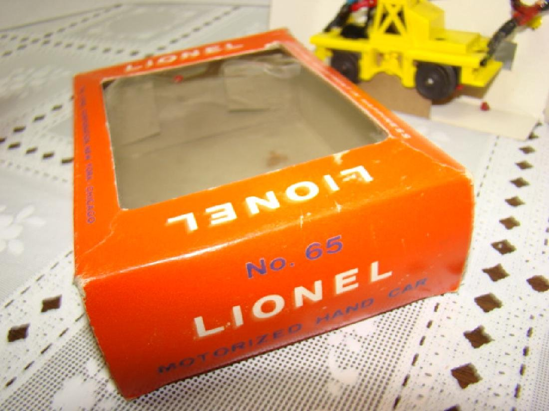 O SCALE  MOTORIZED HAND CAR  BY LIONEL - IN BOX - 7