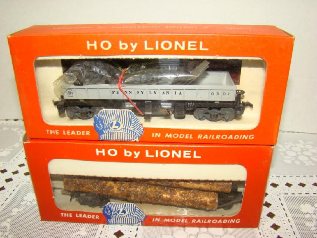 LIONEL HO TIMBER TRANSPORT  & COAL DUMP CAR-IN ORI