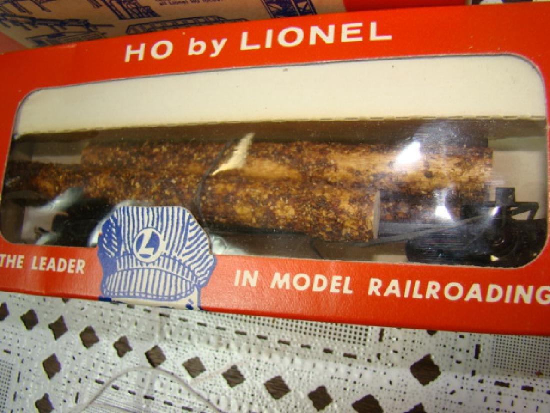 LIONEL HO TIMBER TRANSPORT  & COAL DUMP CAR-IN ORI - 6