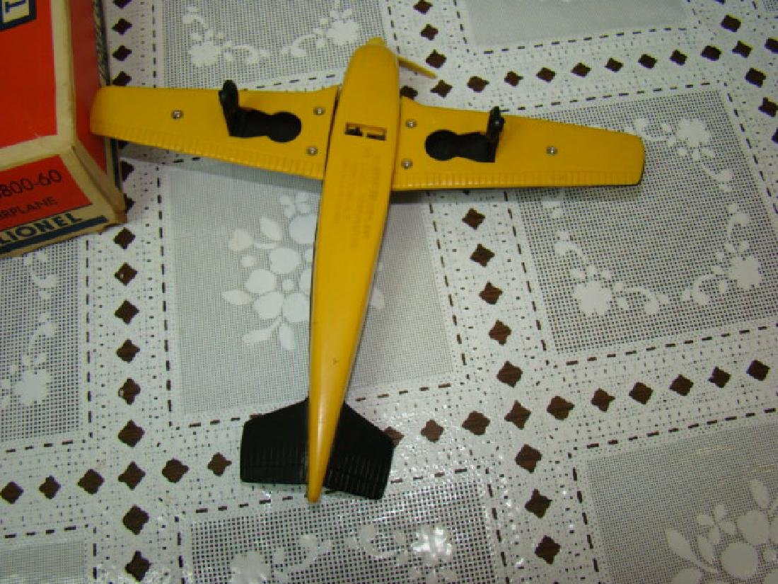 LIONEL TRAINS-BLACK ON YELLOW AIRPLANE IN ORIGINAL - 4
