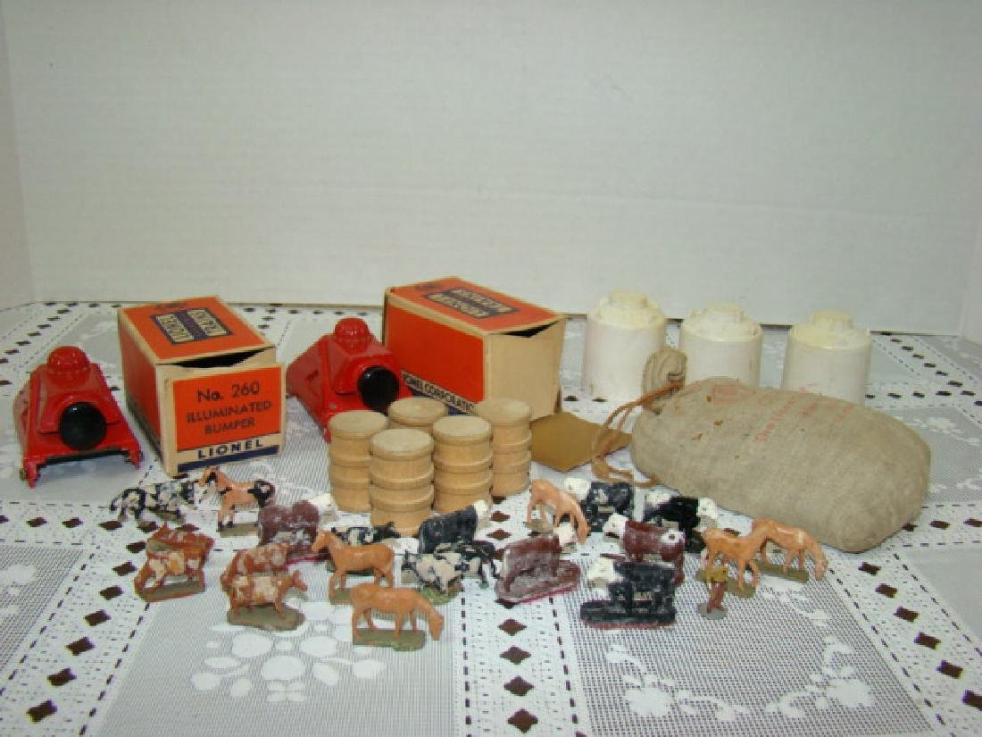 LIONEL CATTLE-HORSES-BUMPERS-COAL  & MORE
