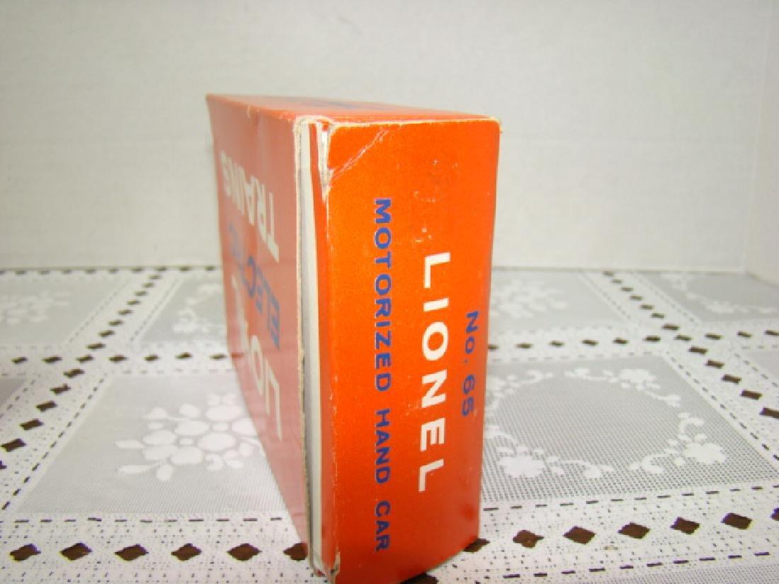 LIONEL O SCALE MOTORIZED HAND CAR - IN ORIGINAL BOX - 6