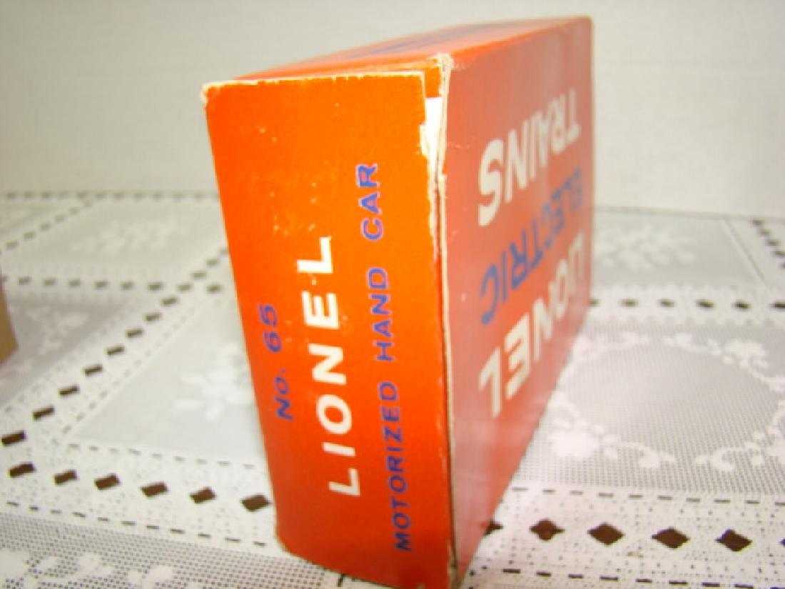 LIONEL O SCALE MOTORIZED HAND CAR - IN ORIGINAL BOX - 7