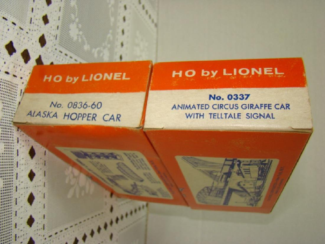 LIONEL HO ANIMATED CIRCUS CAR & ALASKA HOPPER CAR- - 4
