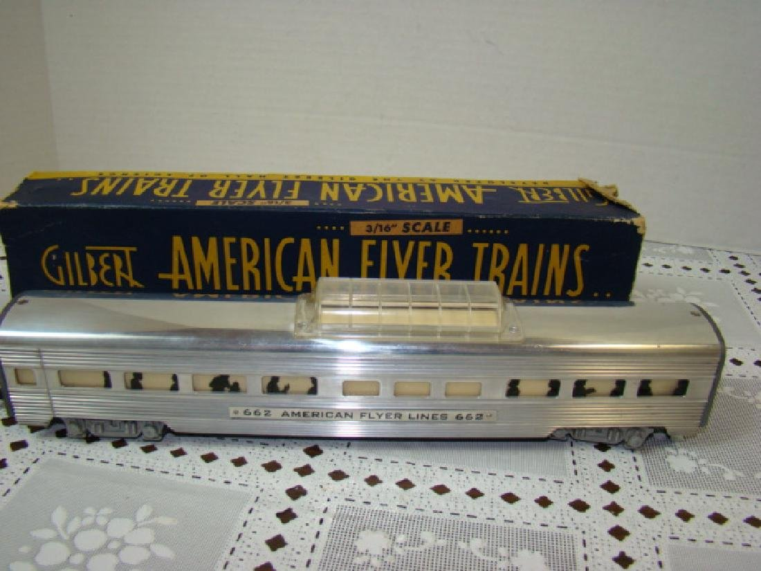 AMERICAN FLYERS ALUMINUM VISTA DOME COACH CAR WITH