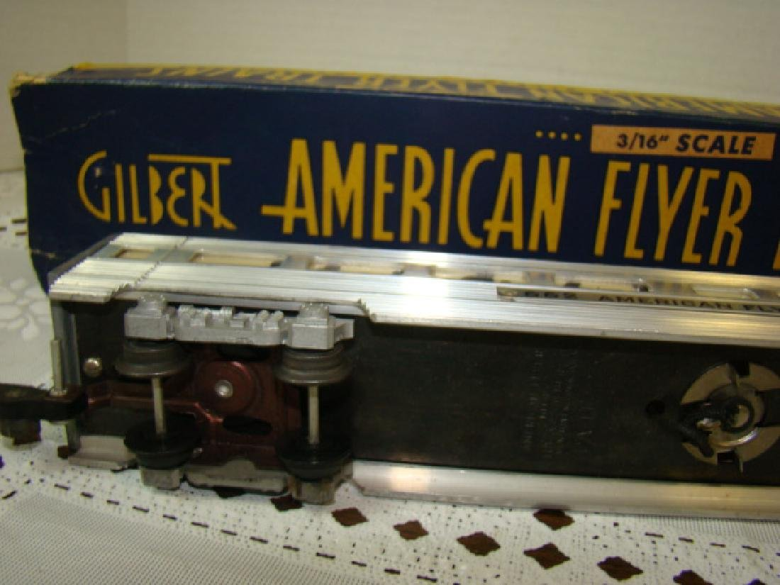 AMERICAN FLYERS ALUMINUM VISTA DOME COACH CAR WITH - 4