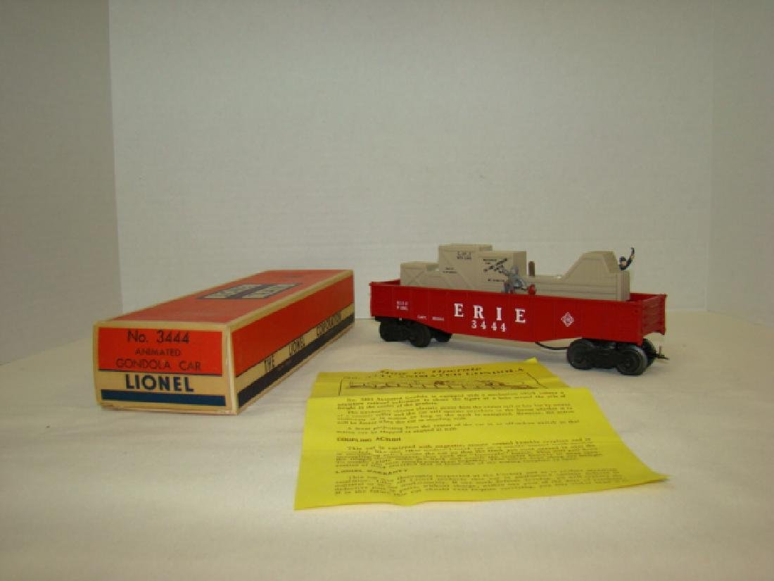 LIONEL TRAINS ANIMATED GONDOLA CAR 3444