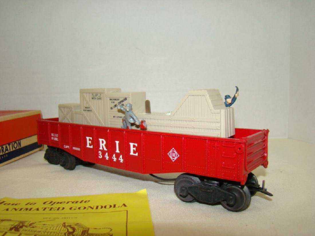 LIONEL TRAINS ANIMATED GONDOLA CAR 3444 - 2