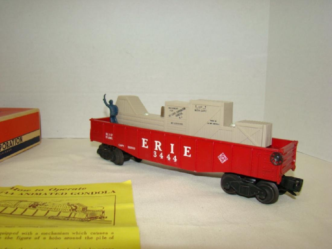 LIONEL TRAINS ANIMATED GONDOLA CAR 3444 - 3