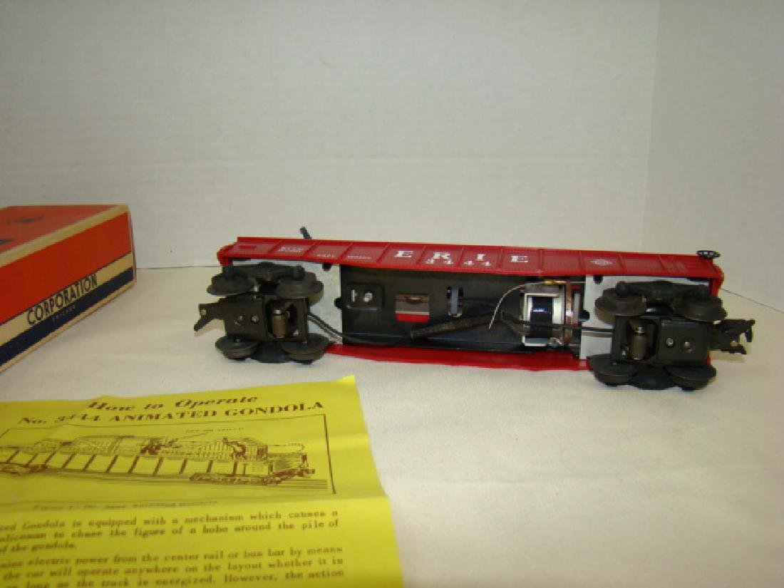 LIONEL TRAINS ANIMATED GONDOLA CAR 3444 - 4