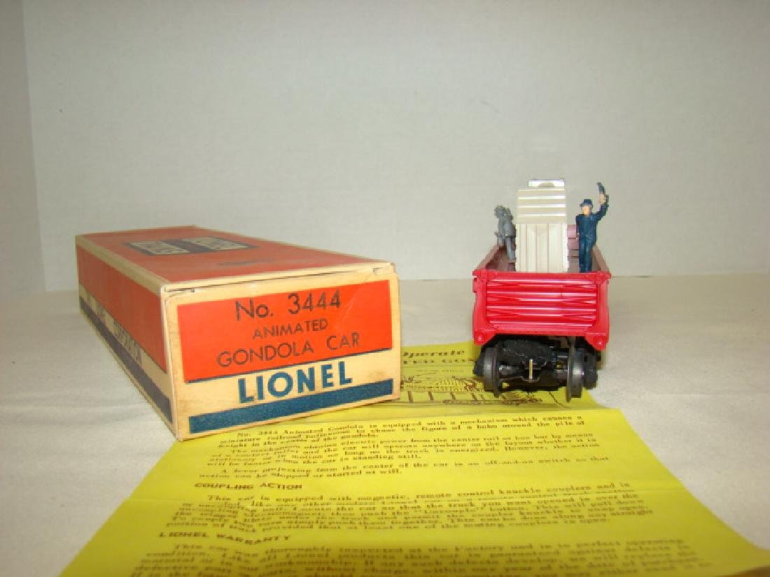 LIONEL TRAINS ANIMATED GONDOLA CAR 3444 - 5