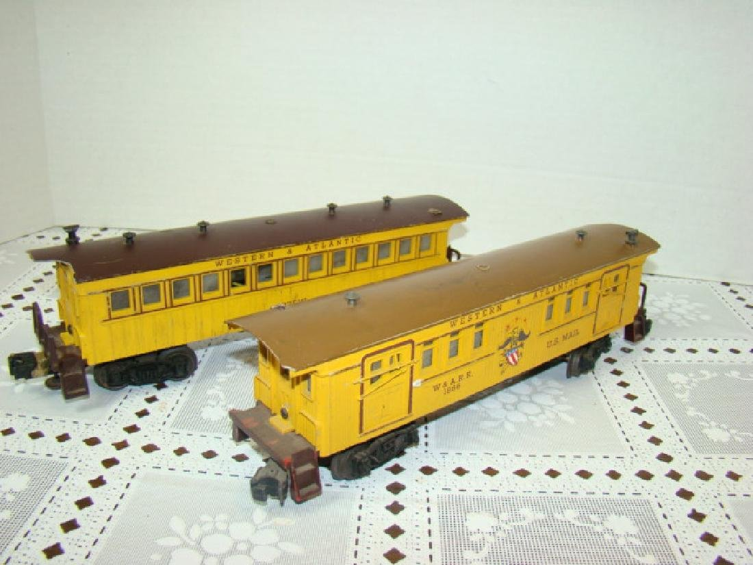 TWO AMERICAN FLYER FLAT CAR WITH LOGS - C & N.W.RY