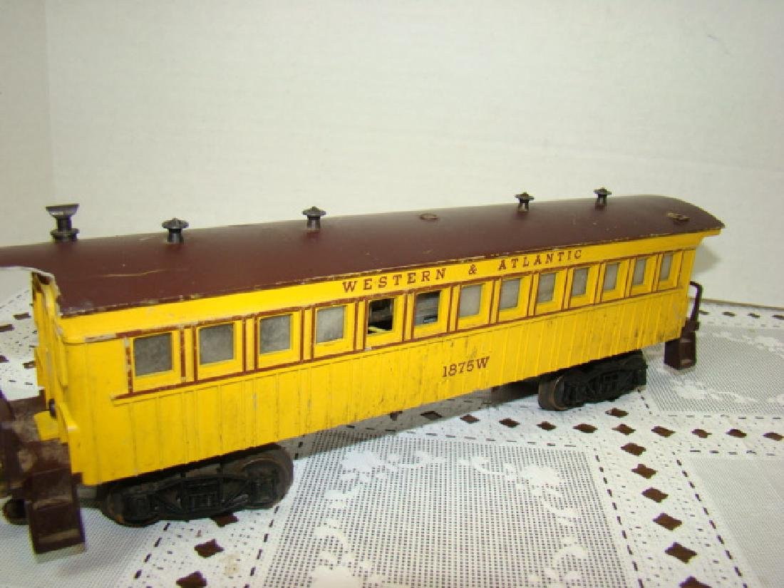 TWO AMERICAN FLYER FLAT CAR WITH LOGS - C & N.W.RY - 3
