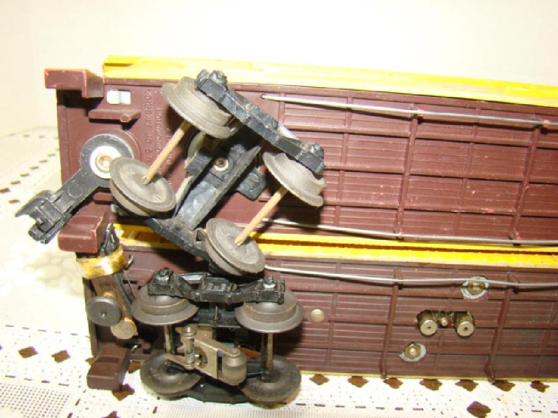 TWO AMERICAN FLYER FLAT CAR WITH LOGS - C & N.W.RY - 7