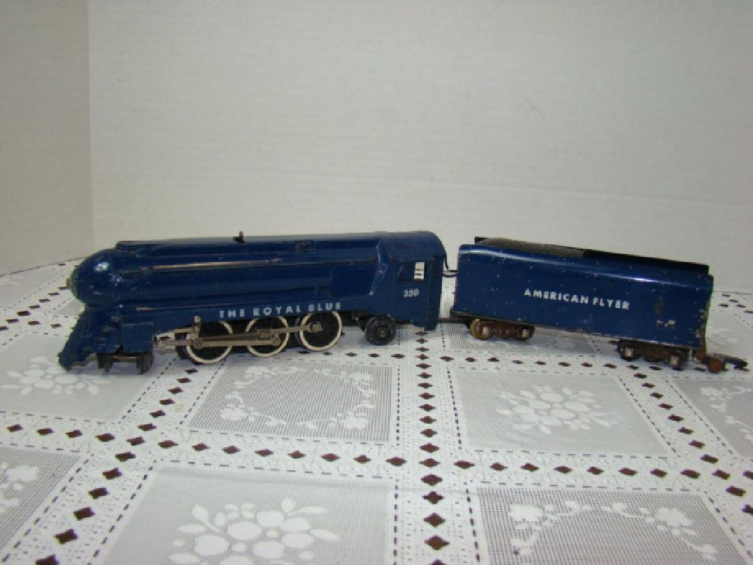 AMERICAN FLYER ROYAL BLUE STEAM LOCOMOTIVE & TENDE