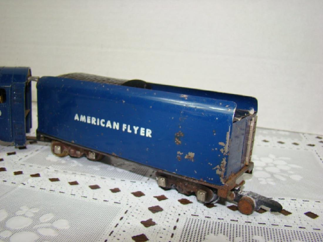 AMERICAN FLYER ROYAL BLUE STEAM LOCOMOTIVE & TENDE - 5
