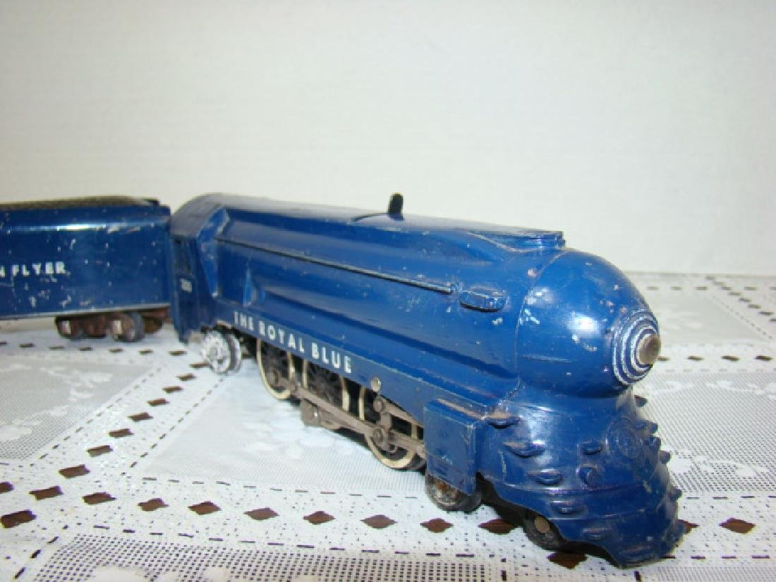 AMERICAN FLYER ROYAL BLUE STEAM LOCOMOTIVE & TENDE - 6