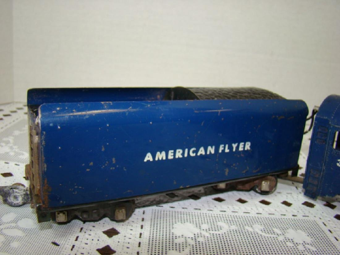 AMERICAN FLYER ROYAL BLUE STEAM LOCOMOTIVE & TENDE - 7