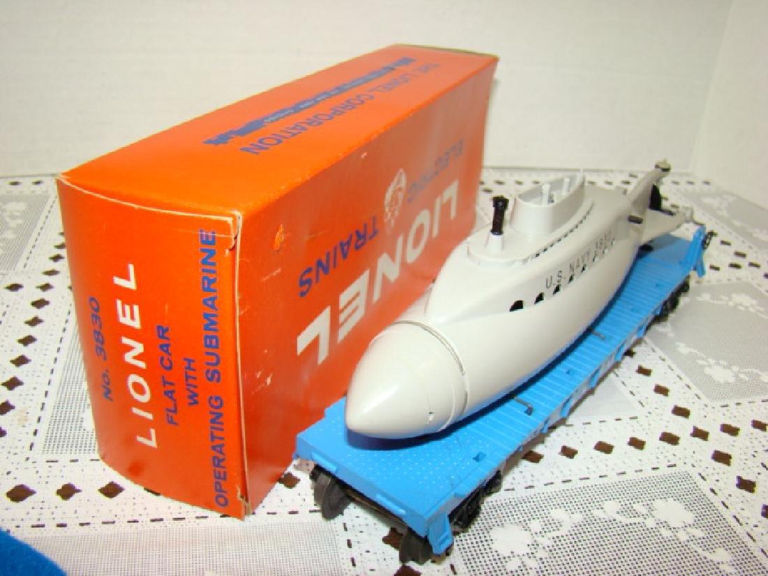 LIONEL TRAIN FLAT CAR WITH OPERATING SUBMARINE NIB - 4