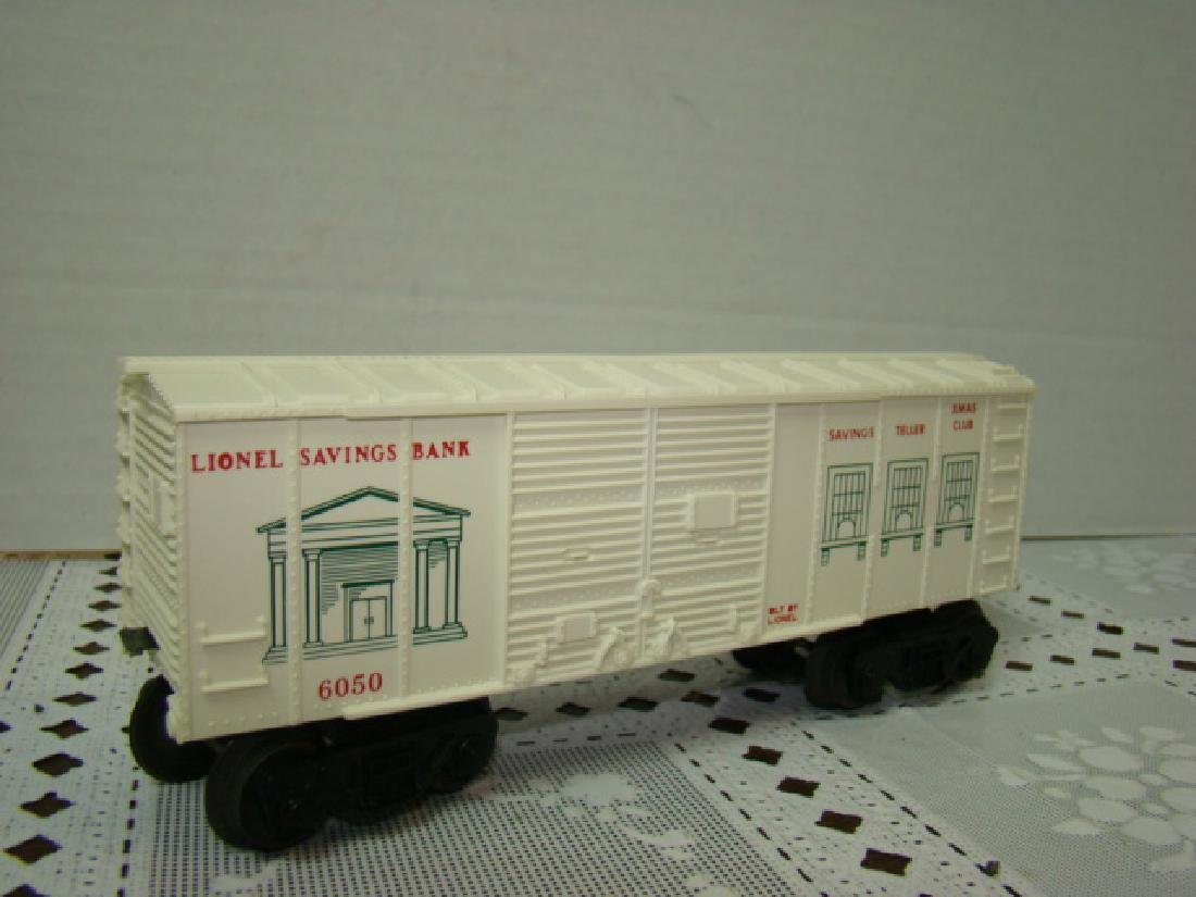 LIONEL TRAINS SAVINGS BANK BOXCAR