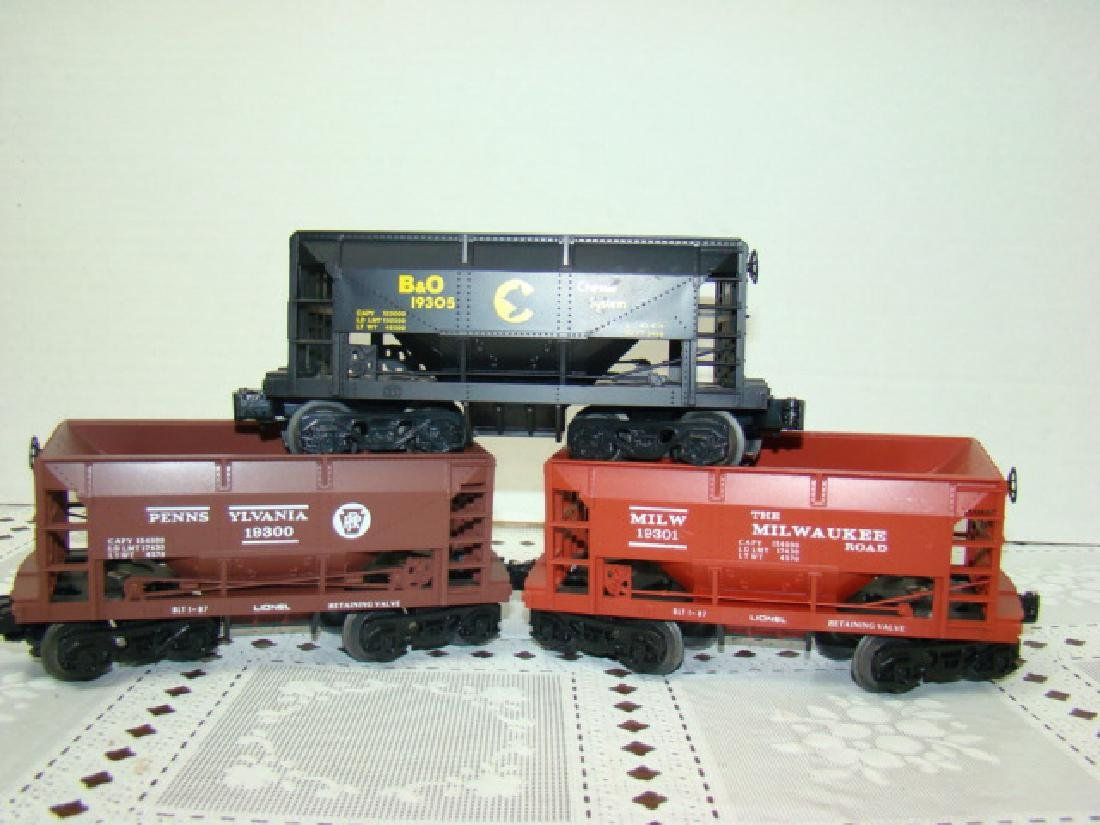 THREE LIONEL COAL CARS