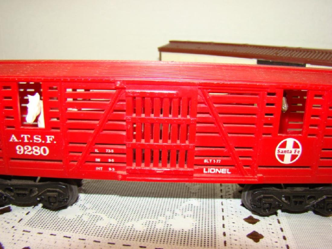 LIONEL SANA FE A.T.S.F.9280 BOX CAR WITH HORSE HEA - 4