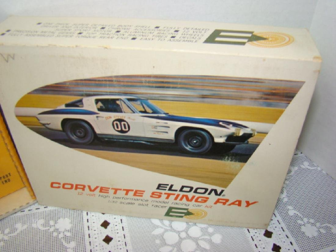 NIB - ELDON SLOT CAR-CORVETTE STING RAY - 3