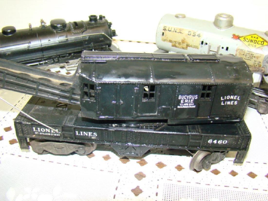 LIONEL TRAINS- LOCOMOTIVE 221 CAB-CRANE CAR & MORE - 3