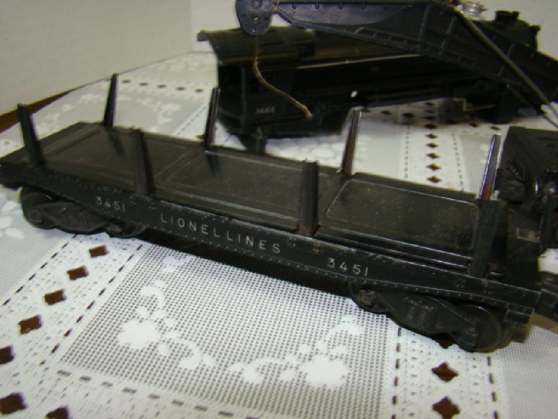 LIONEL TRAINS- LOCOMOTIVE 221 CAB-CRANE CAR & MORE - 5
