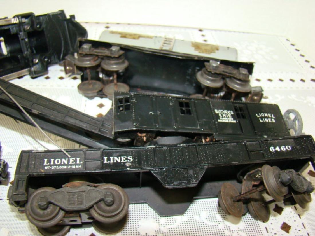 LIONEL TRAINS- LOCOMOTIVE 221 CAB-CRANE CAR & MORE - 6
