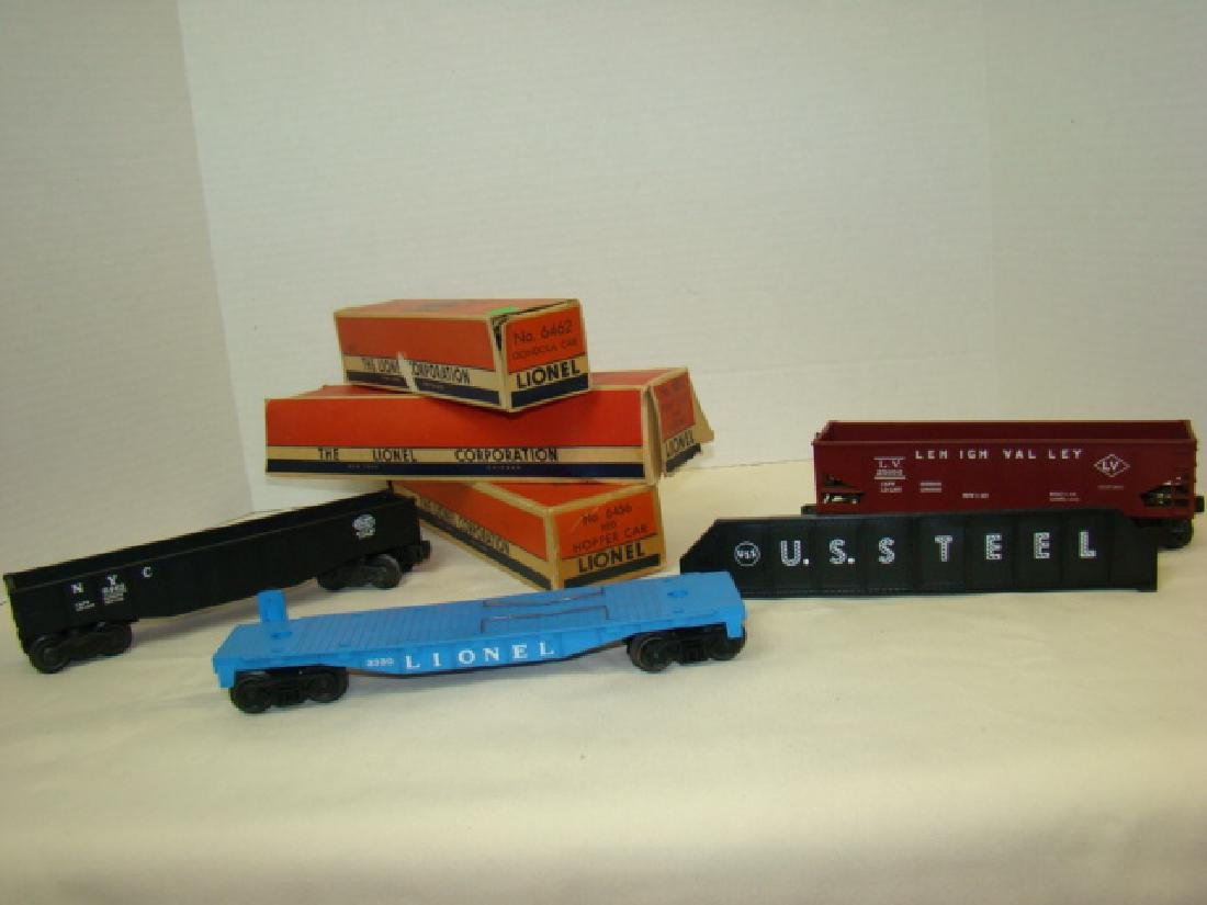 LIONEL GONDOLA -HOPPER - FLAT CAR WITH ORIGINAL BO