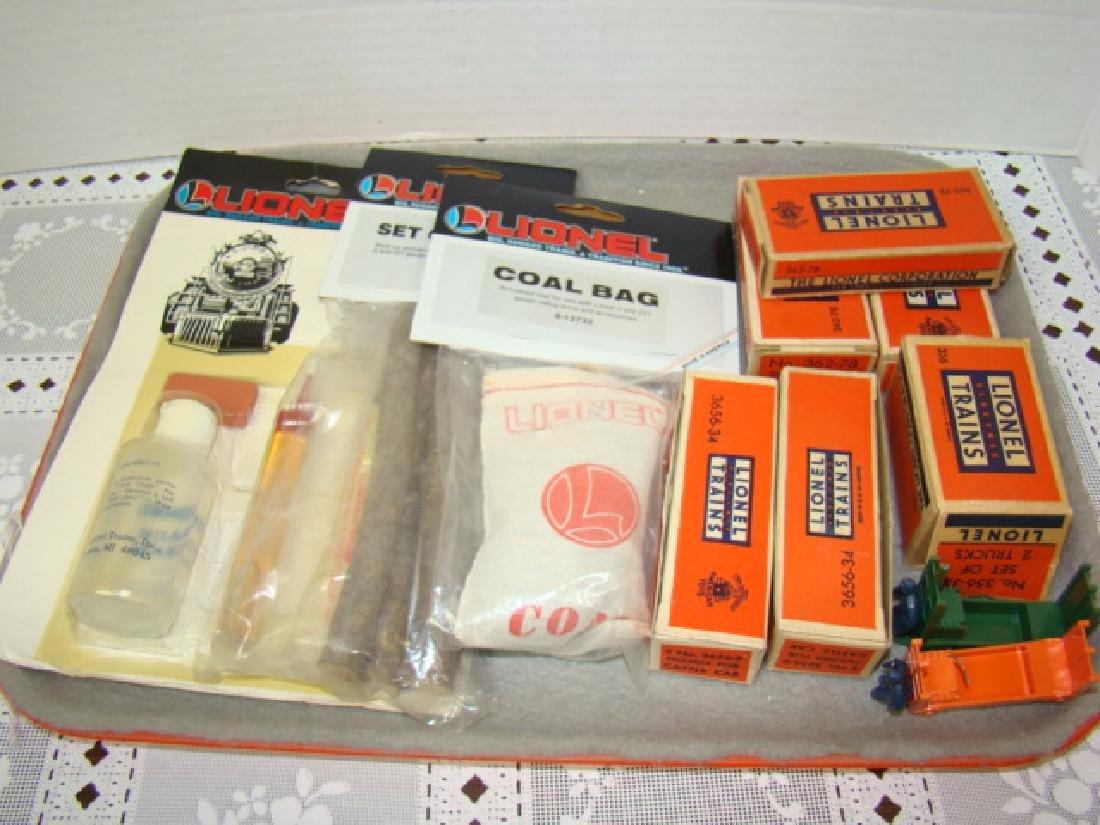 LIONEL TRAINS-COAL BAG-SET OF LOGS-MAINTANENCE KIT