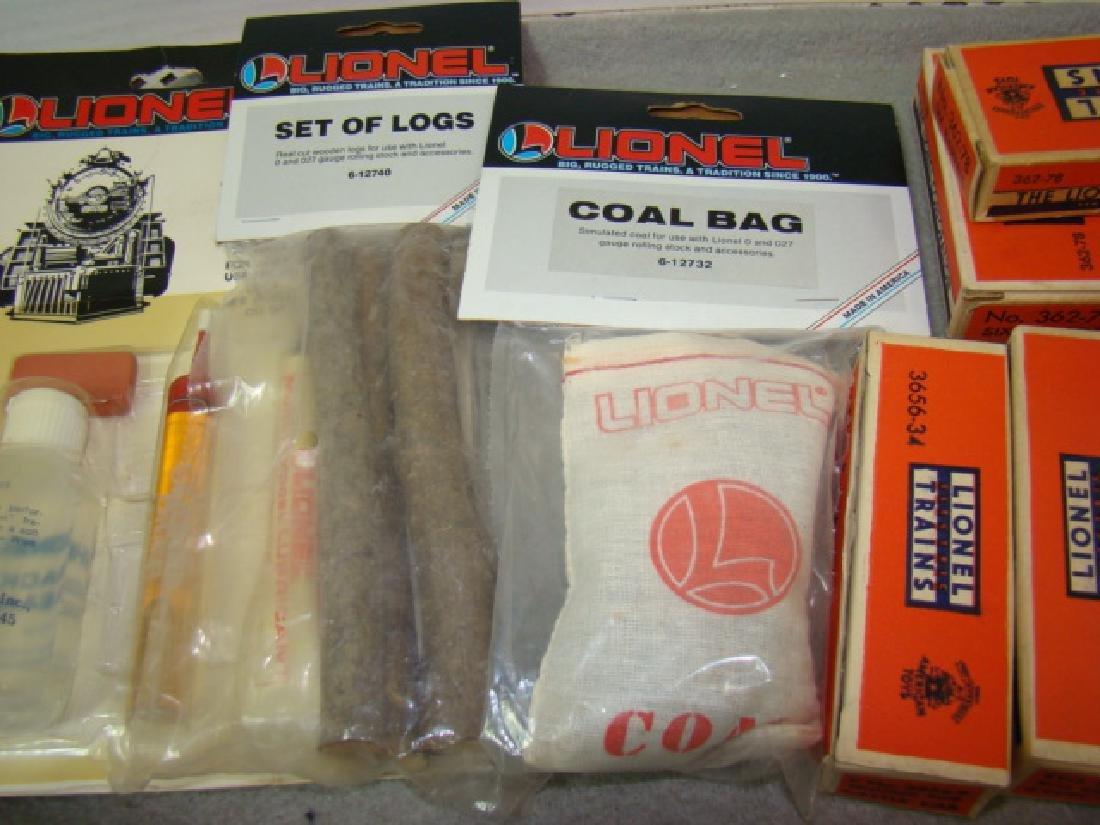 LIONEL TRAINS-COAL BAG-SET OF LOGS-MAINTANENCE KIT - 3