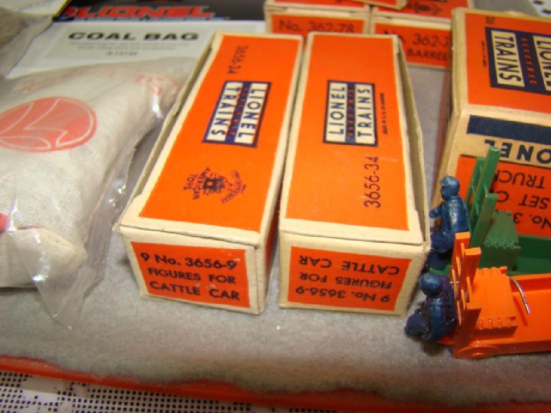 LIONEL TRAINS-COAL BAG-SET OF LOGS-MAINTANENCE KIT - 6