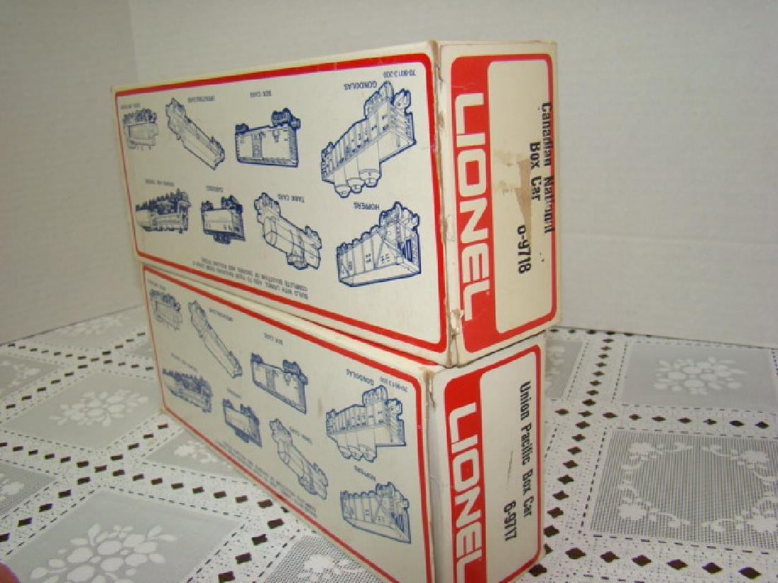 LIONEL UNION PACIFIC BOX CAR 6-9717 AND CANADIAN N - 4