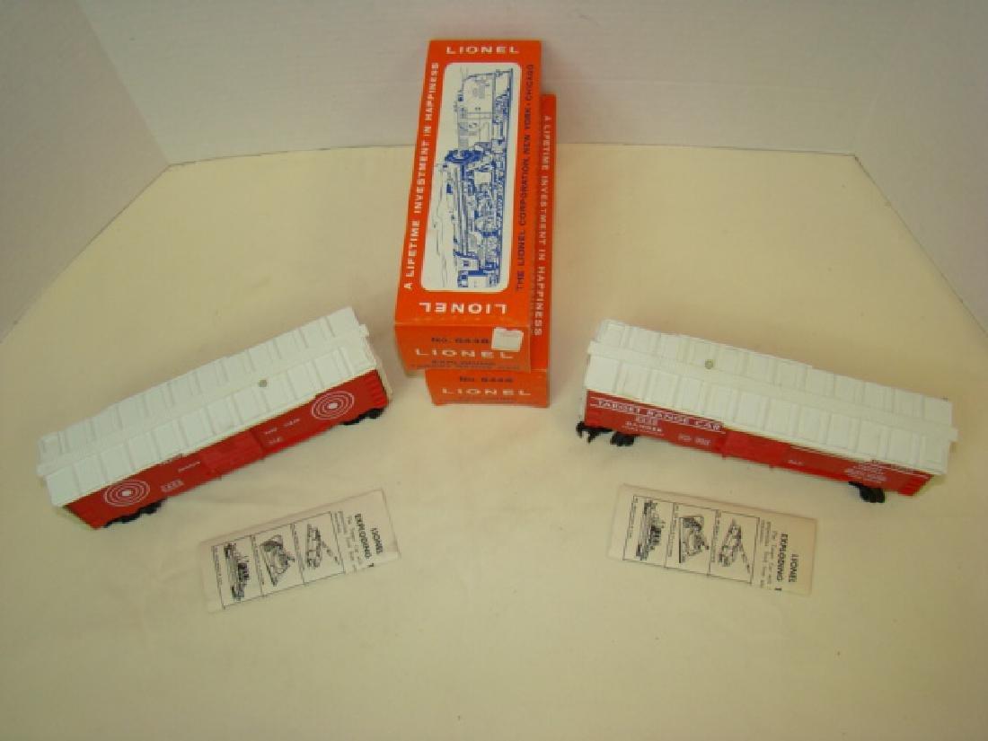 2 LIONEL EXPLODING TARGET RANGE CARS 6448-NIB - 2