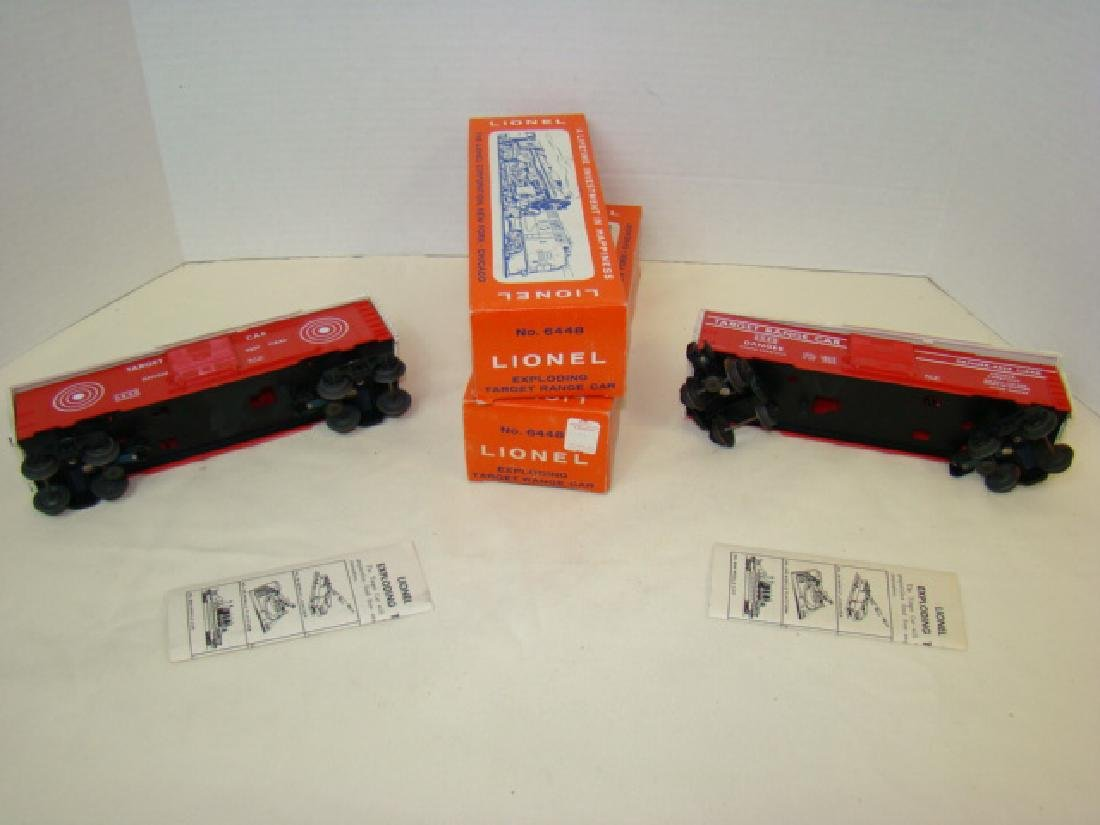 2 LIONEL EXPLODING TARGET RANGE CARS 6448-NIB - 3
