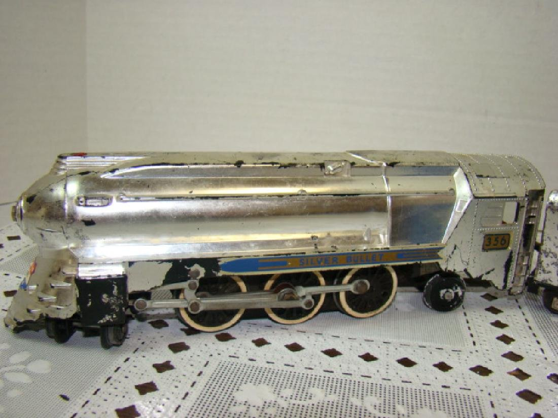 AMERICAN FLYER SILVER BULLET LOCOMOTIVE & TENDER - 2