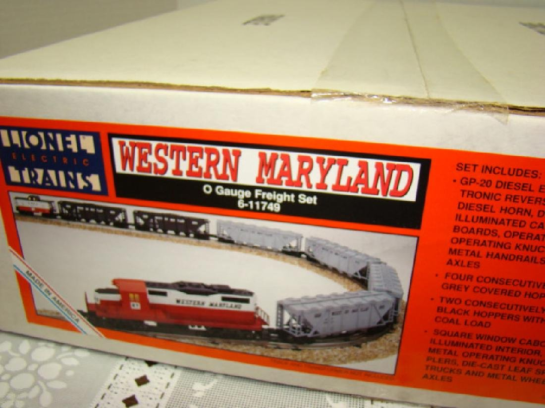 LIONEL WESTERN MARYLAND TRAIN SET SEALED IN ORIGIN - 4