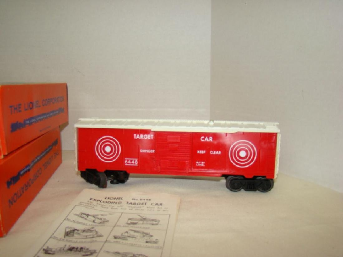 LIONEL EXPLODING TARGET RANGE CARS 6448-NIB - AND - 2