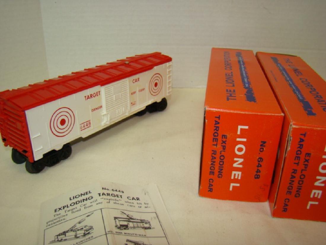LIONEL EXPLODING TARGET RANGE CARS 6448-NIB - AND - 7