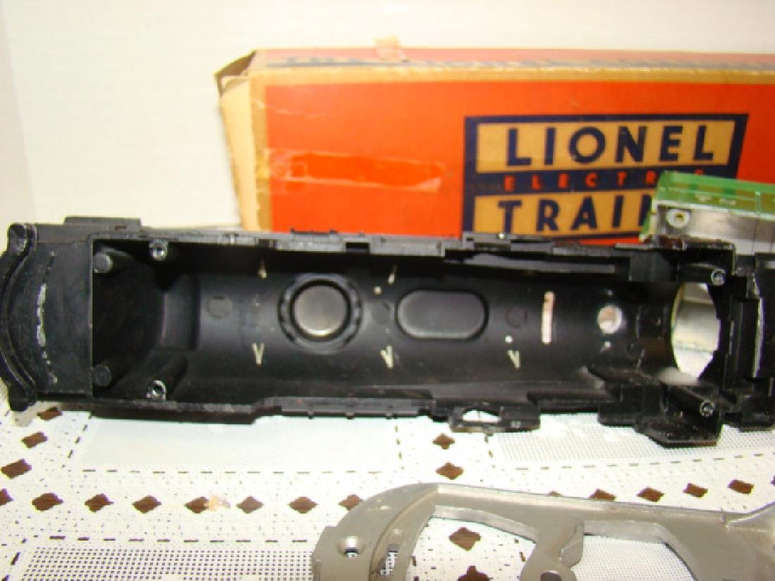 LIONEL TRAINS- 2 LOCOMOTIVE CAPS ONLY- 2 CHASSIS - 7