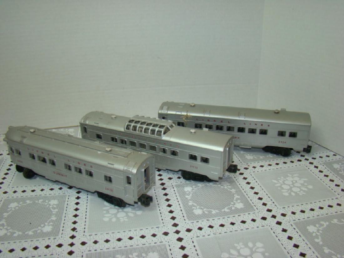 3 LIONEL LINES PASSENGER & OBSERVATION CARS