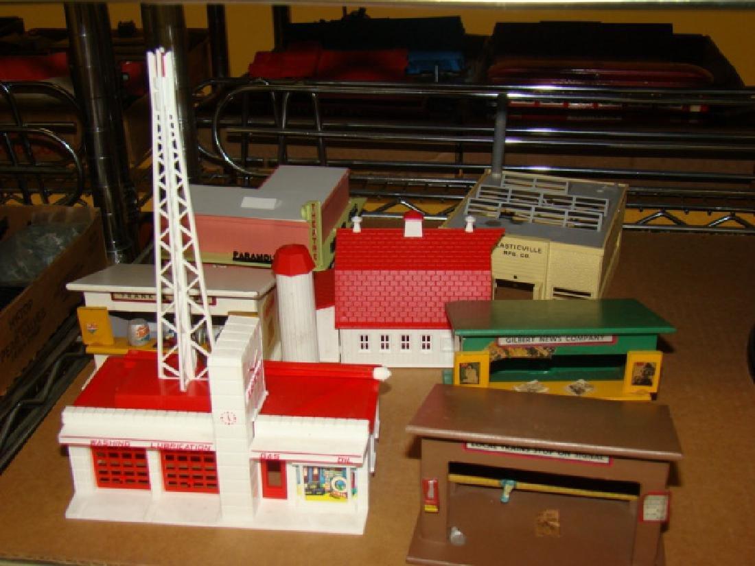 PLASTICVILLE DISPLAY BASE & VARIOUS BUILDINGS - 2
