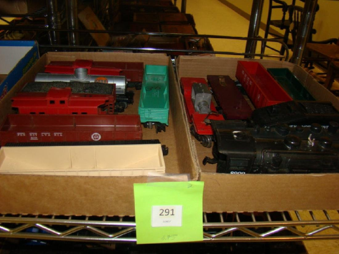 MIXED LOT-PEABODY-CABOOSES-LOCOS